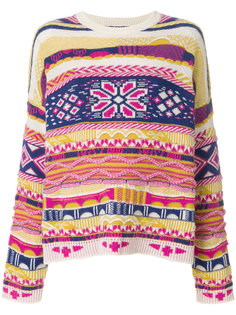 свитер с ярким узором Laneus