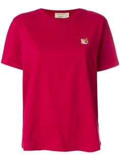 футболка с вышивкой Maison Kitsuné