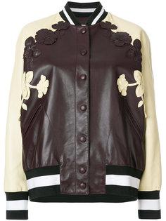 университетская куртка с цветочными аппликациями Valentino