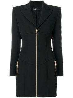 платье-пиджак на молнии Balmain