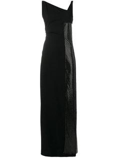 платье макси с панельным дизайном и пайетками Paco Rabanne