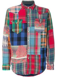 рубашка лоскутного кроя Polo Ralph Lauren