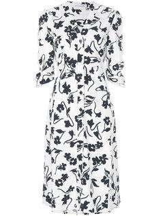 платье-рубашка с цветочным принтом  Altuzarra