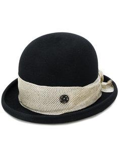 шляпа с контрастным декором Maison Michel