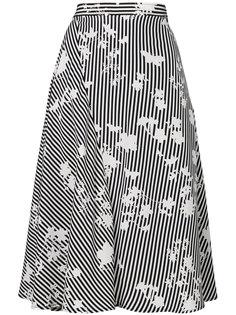 полосатая юбка А-силуэта Altuzarra