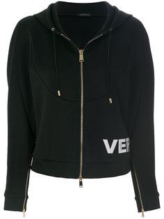 худи на молнии с логотипом Versace