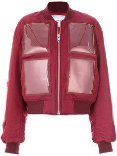 дутая куртка с виниловыми панелями Push Button