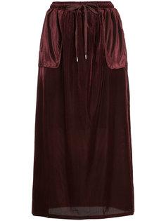 длинная юбка со шнурком  Cityshop