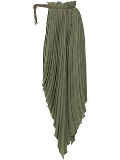 плиссированная половинчатая юбка Aeron