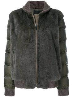 куртка-пуховик с норковым мехом Liska