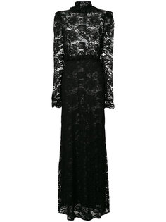 приталенное кружевное вечернее платье Francesco Scognamiglio
