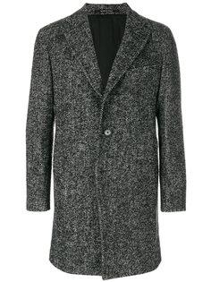 """пальто с узором """"елочкой"""" Tagliatore"""