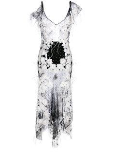 прозрачное декорированное платье Amen Amen.