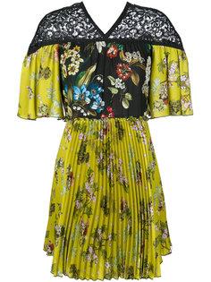 плиссированное платье с цветочным принтом  IM Isola Marras