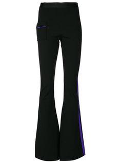 брюки палаццо с окантовкой в полоску Ssheena