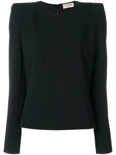 блузка со структурированными плечами  Saint Laurent