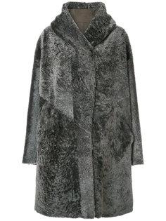 пальто их меха ягненка Liska