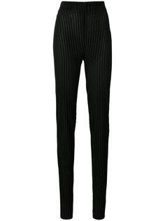 бархатные брюки скинни в полоску Vionnet