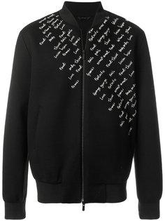 куртка с вышивкой Fendi