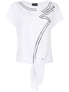 асимметричная рубашка с принтом  Emporio Armani