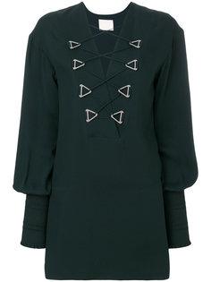 платье мини в стиле милитари  Dion Lee