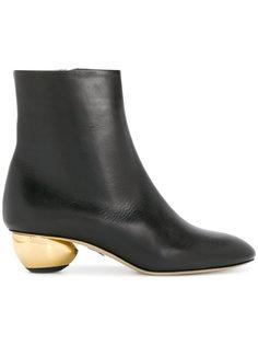 ботинки на контрастном каблуке Paul Andrew