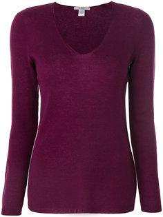пуловер слим с V-образным вырезом  La Fileria For Daniello