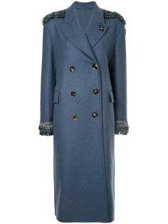 двубортное длинное пальто Ermanno Scervino