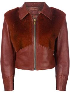 куртка с отделкой из меха норки  Prada