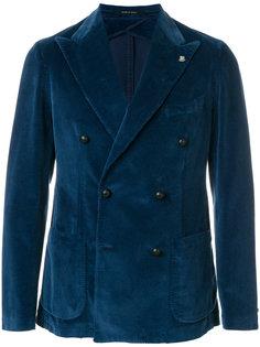 вельветовый двубортный пиджак Tagliatore