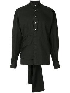 рубашка с запахом и поясом Hed Mayner