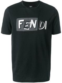 футболка с вышитым логотипом Fendi
