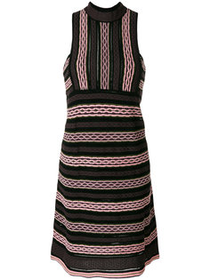 полосатое платье с высоким воротом M Missoni