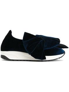 бархатные туфли с объемным бантом Joshua Sanders