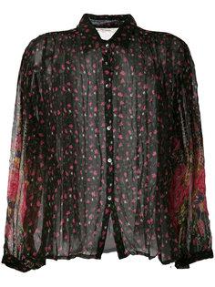 прозрачная рубашка с цветочным узором Mes Demoiselles