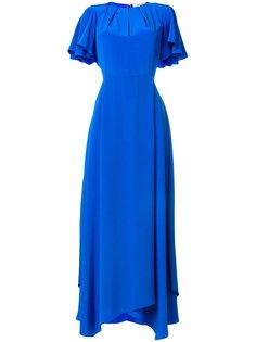 вечернее платье с оборчатыми рукавами Dvf Diane Von Furstenberg
