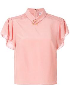 блузка с отделкой кольцами  Red Valentino