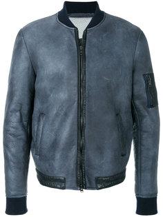 куртка-бомбер с потертым эффектом Salvatore Santoro