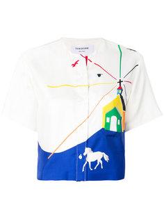укороченная рубашка Church Scenery Thom Browne