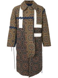 удлиненное пальто с орнаментом Craig Green