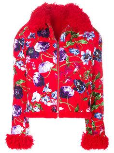 стеганая куртка с цветочной отделкой  Kenzo