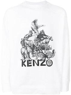толстовка с принтом животных Kenzo