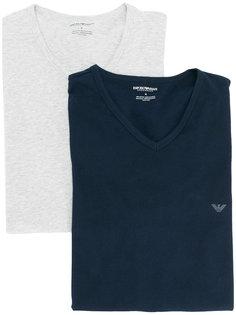 футболка с V-образным вырезом Emporio Armani