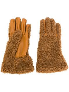 перчатки с панельным дизайном Stella McCartney