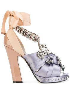 декорированные туфли с завязками на щиколотке Nº21