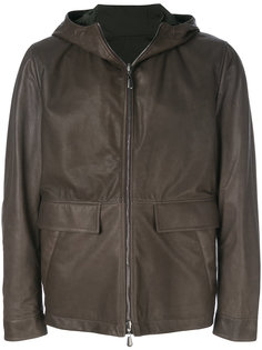reversible hooded leather jacket Bottega Veneta