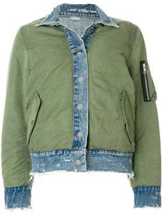 двусторонняя джинсовая куртка бомбер Amiri