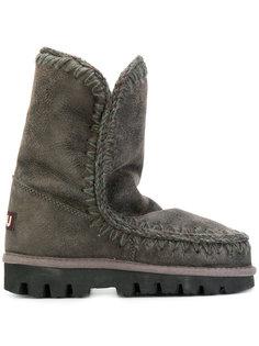 зимние ботинки со строчкой Mou