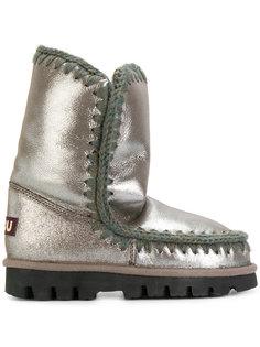зимние ботинки с эффектом металлик Mou