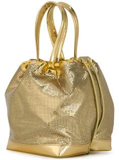сумка-тоут с цепочной отделкой Paco Rabanne